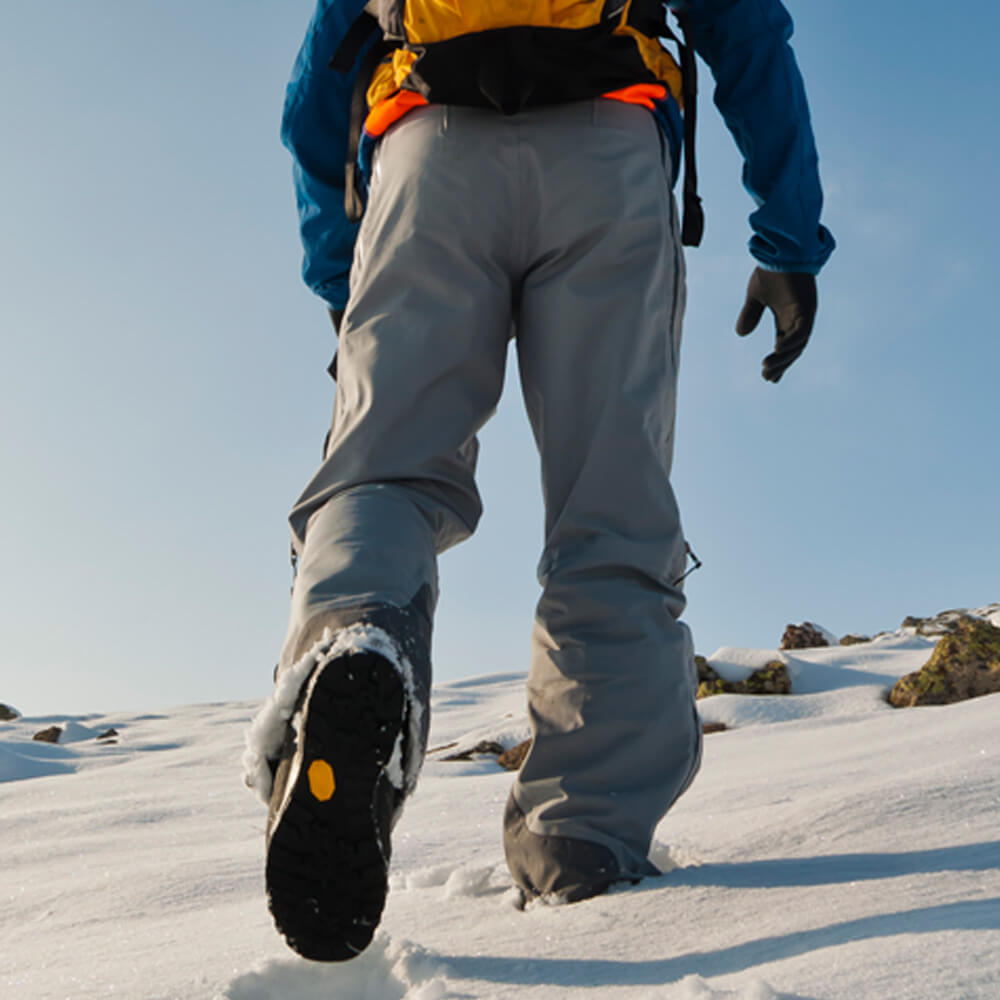 Image of a snow hiker