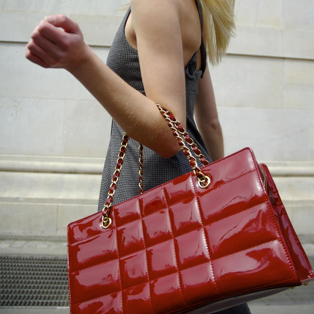 Image of a woman with handbag