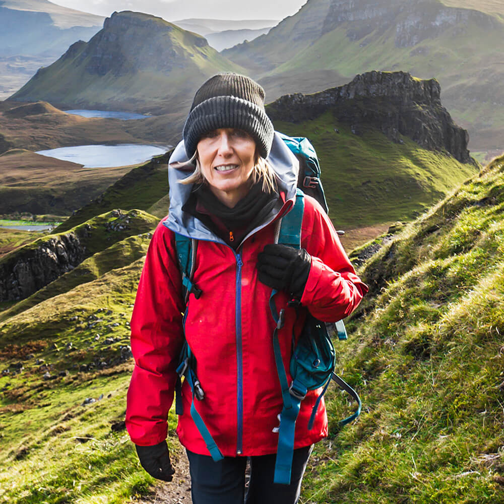 Image of a woman hiking