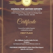 Wilhelm Textiles India honored with CLE Export Award