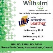 Wilhelm Textil® stellt aus auf der Indian International Leather Fair