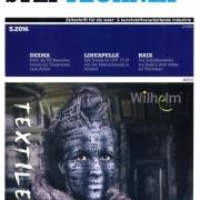 """Wilhelm Textil® auf dem Cover der """"STEPTECHNIK"""""""