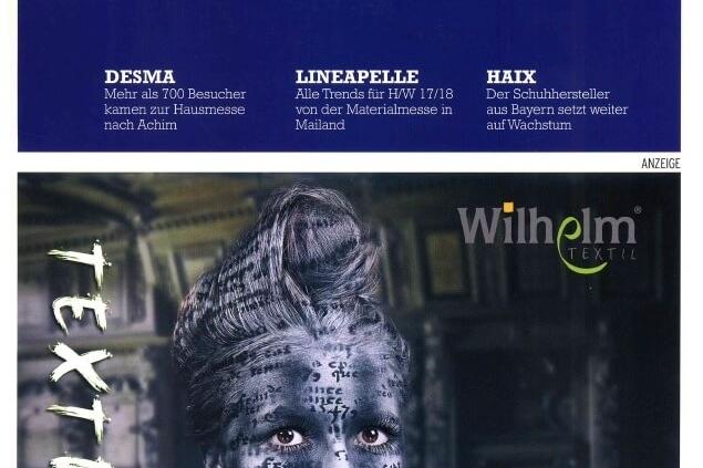 "Wilhelm Textil® on the cover of ""STEPTECHNIK"""