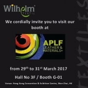 """Wilhelm Textil® presents at the """"Asia Pacific Leather Fair (MM & T)"""" in Hong Kong"""